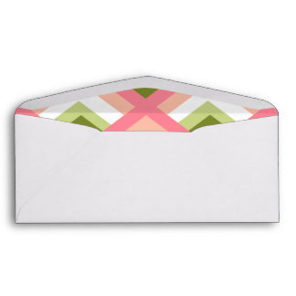 Pink Green Abstract Geometric Designs Color Envelope