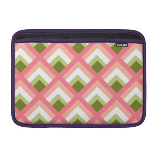 Pink Green Abstract Geometric Designs Color MacBook Air Sleeve