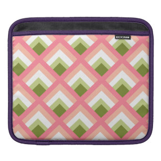 Pink Green Abstract Geometric Designs Color iPad Sleeves