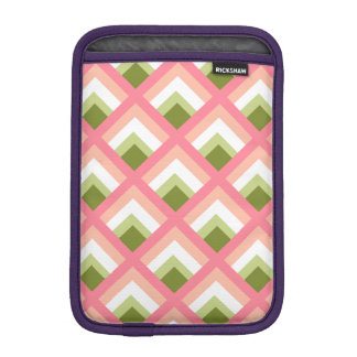 Pink Green Abstract Geometric Designs Color iPad Mini Sleeves