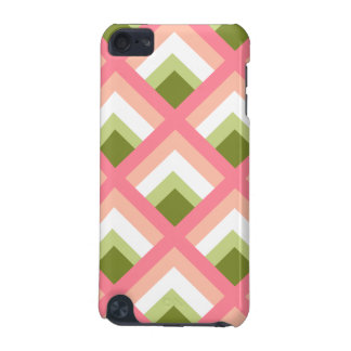 Pink Green Abstract Geometric Designs Color iPod Touch (5th Generation) Cases