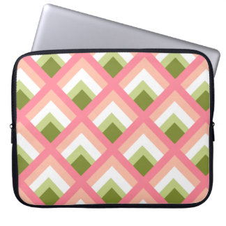 Pink Green Abstract Geometric Designs Color Laptop Sleeves