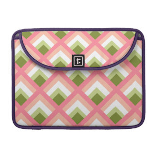 Pink Green Abstract Geometric Designs Color Sleeve For MacBook Pro
