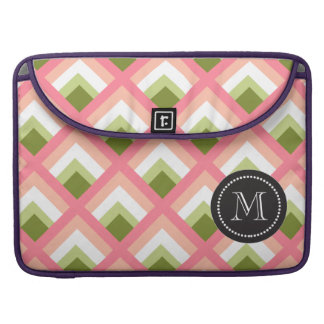 Pink Green Abstract Geometric Designs Color MacBook Pro Sleeve