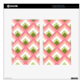 Pink Green Abstract Geometric Designs Color Skins For Kindle Fire