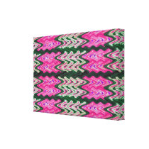 Pink Green Abstract Pattern Canvas Print