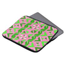 Pink & Green African Pattern Computer Sleeve