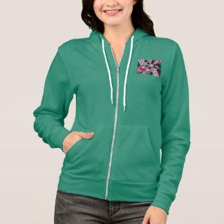 Pink & Green Amoeba Fractal Hoodie