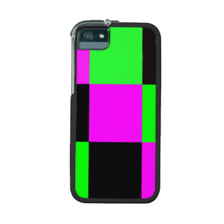 Pink, Green and Black Tiles Cover For iPhone 5/5S