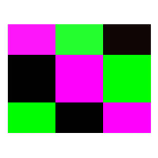 Pink, Green and Black Tiles Postcard