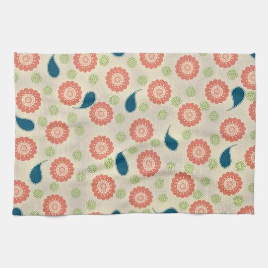 Pink, Green, and Blue American MoJo Kitchen Towels
