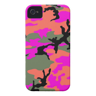 Pink Green and Orange Camouflage iPhone 4 Cases
