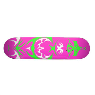 pink green and white dragon skate deck