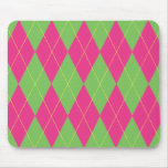 Pink & Green Argyle Mouse Pads