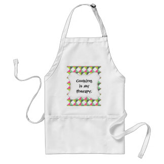 Pink Green Aztec Andes Tribal Block Pattern Adult Apron
