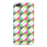 Pink Green Aztec Andes Tribal Block Pattern Cover For iPhone 5
