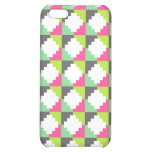 Pink Green Aztec Andes Tribal Block Pattern iPhone 5C Case