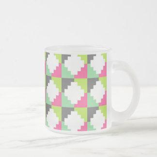 Pink Green Aztec Andes Tribal Block Pattern Coffee Mug