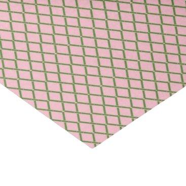 Beach Themed Pink & Green Bamboo Tissue by Redux121DesignStudio Tissue Paper