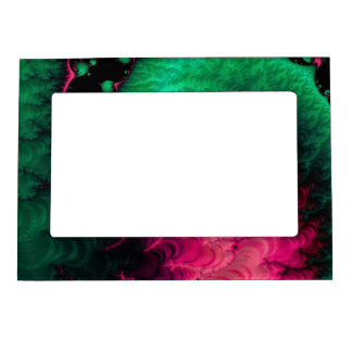Pink Green Black Fractal Magnetic Frame
