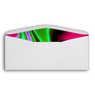 Pink Green Blue Abstract Envelope