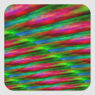 Pink Green Blue Color Splashes Square Sticker