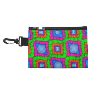 Pink Green Blue Florescent Abstract Accessory Bag