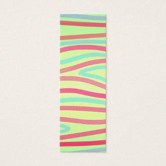 Pink Green Blue Stripes Bookmark Mini Business Card