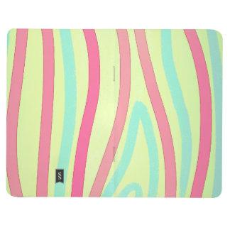 Pink Green Blue Stripes Journal