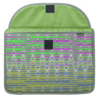 Pink Green Blue Yellow Zigzag Pattern Sleeve For MacBook Pro