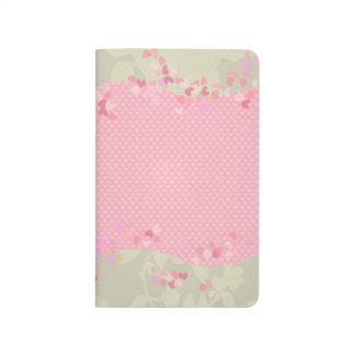 Pink & green botanical hearts journal