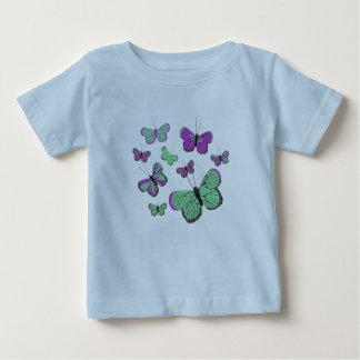 Pink & Green butterflies Baby T-Shirt