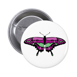 Pink & Green Butterfly Pin
