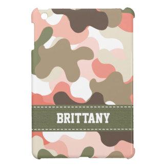 Pink Green Camo iPad Mini Cover