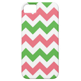 Pink:Green Chevron iPhone SE/5/5s Case
