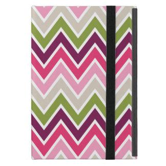 Pink & Green Chevron Stripe iPad Mini Case
