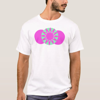 Pink & green circles with a flower T-Shirt