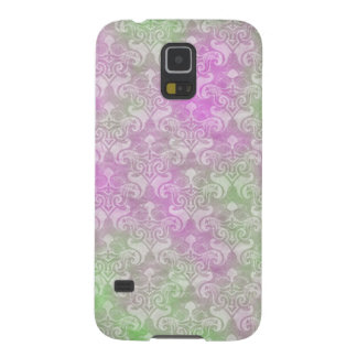 Pink & Green Cloudy Damask Galaxy S5 Cover