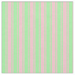 [ Thumbnail: Pink & Green Colored Stripes Fabric ]
