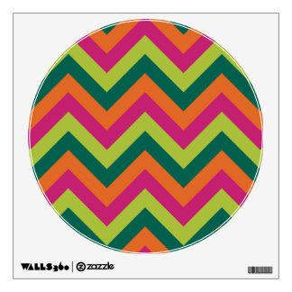 Pink Green Colors Modern Chevron Geometric Pattern Wall Decal