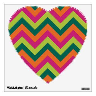 Pink Green Colors Modern Chevron Geometric Pattern Wall Sticker
