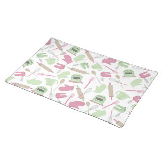 Pink & Green Cooking Theme Place mat Cloth Place Mat