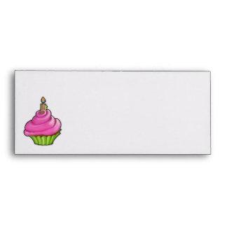 Pink & Green Cupcake Letterhead Envelope