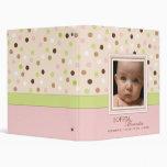 Pink + Green Dot Baby Girl Photo Album Binder