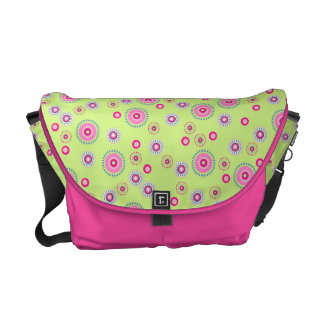 Pink & Green Dotted Dots Messenger Bag