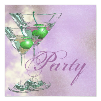 Pink green elegant 21st card