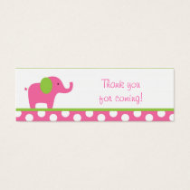Pink Green Elephant Party Favor Gift Tags