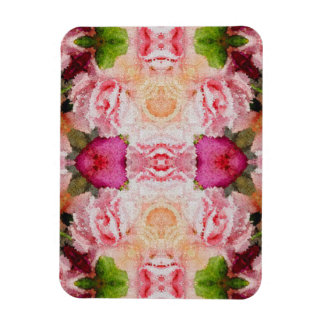 Pink Green Floral Abstract Magnet