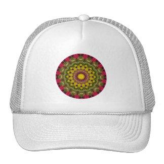 Pink & Green Floral Easter Joy Mandala Trucker Hat