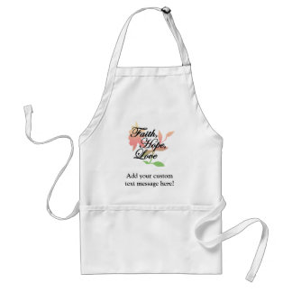 Pink/Green Floral Faith Hope Love Adult Apron